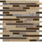 Beige Brown Slate Glass Baguette - 12x11.6 Sheet - ARRO16