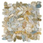 Beige Sliced Polished Pebble Interlocking GABE17