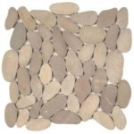 Beige XL Sliced Matte Pebble Interlocking GABE14