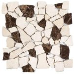 BeigeBrown Opus Mosaic Interlocking - 12x12 Sheet - MAMI78