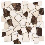 BeigeBrown Opus Mosaic Interlocking - 12x12 Sheet - MAMI78