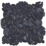 Black Sliced Matte Pebble Interlocking GANO15