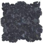 Black Sliced Matte Pebble Interlocking GANO15
