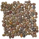 Brown Polished Pebble Interlocking - 12x12 Sheet GAMA01