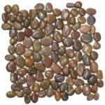 Brown Polished Pebble Interlocking - 12x12 Sheet GAMA01