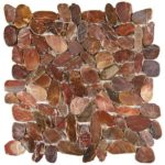Brown Sliced Polished Pebble Interlocking GAMA11