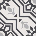 CEMENT TILE CLASSIC DECOR 12 BLACK GREY OFF WHITE - CIMI82