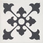 CEMENT TILE DECOR 2 CLASSIC ANTRACITE OFF WHITE - CIMI02