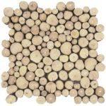 Coffee Tree Wood Mosaic Interlocking - 12x12 Sheet 38 Thick - BOCA01