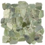 Crystal Green Semi-Precious Stone Mosaic Interlocking - 12x12 Sheet - GAVE03