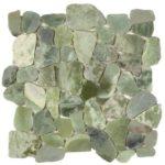 Crystal Green Semi-Precious Stone Mosaic Interlocking - 12x12 Sheet - GAVE03