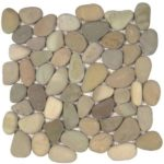 Golden Rectified Matte Pebble Interlocking - 12x12 Sheet GAJA06R