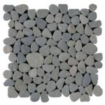 Grey Rectified Matte Pebble Interlocking - 12x12 Sheet GAGR01R