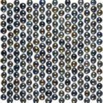 Mix Glass Black Penny Round Pebbles Glossy 11.5x12 - VENO36