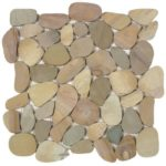 Mix Golden Sliced Matte Pebble Interlocking GAJA04