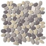 Mix Grey Reconstituted Pebble Interlocking - 12x12 Sheet GAGR03