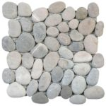 Mix GreyBeige Rectified Matte Pebble Interlocking - 12x12 Sheet GAGR07R