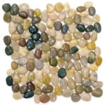 Mix Polished Pebble Interlocking - 12x12 Sheet GAMI04