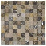 MixBeige Glass Mix Marble Mosaic 1x1 - Sheet 12x12 - MAMI30