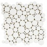 Reconstituted White Round Mix Mosaic 12x12 - PIBL10