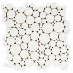 Reconstituted White Round Mix Mosaic 12x12 - PIBL10