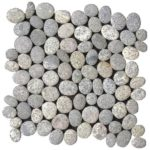 Speckled Rectified Matte Pebble Interlocking - 12x12 Sheet GAGR05R