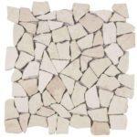 White Opus Mosaic Interlocking - 12x12 Sheet - MABL64