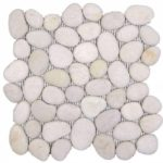 White Rectified Matte Pebble Interlocking - 12x12 Sheet GABL01R