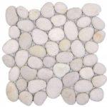 White Rectified Matte Pebble Interlocking - 12x12 Sheet GABL01R