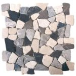 WhiteGreyBlack Opus Mosaic Interlocking - 12x12 Sheet - MAMI11
