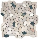 WhitePinkBeigeBlack Sliced Matte Pebble Interlocking GAMI83
