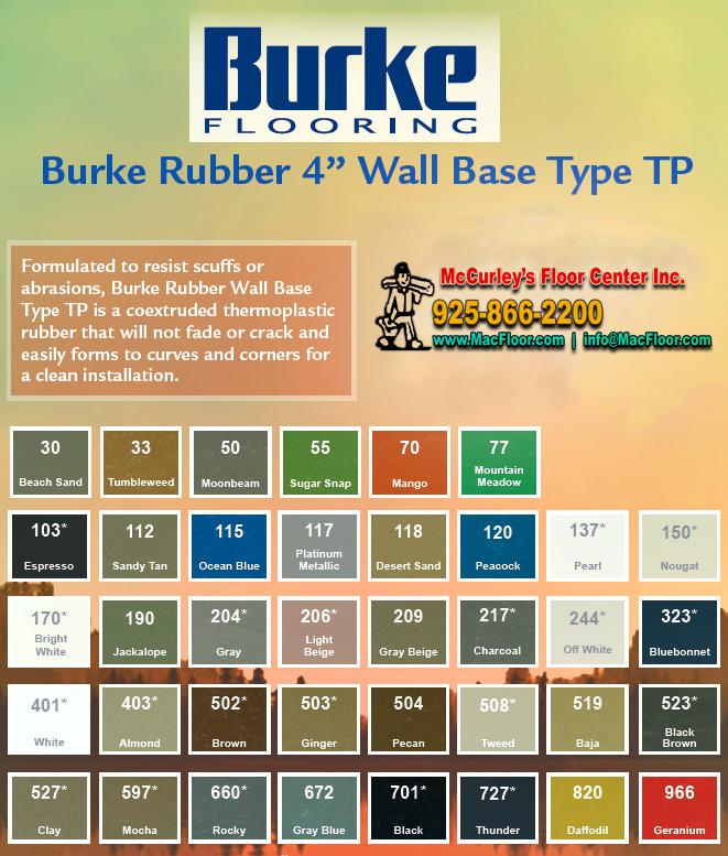 Burke Flooring Rubber Wall Base Sale